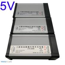 Interrupteur dalimentation étanche à la pluie IP54, extérieur 5V LED dalimentation, transformateur ac 220V vers dc 5V, 40a, 60a, 70a, 200W, 300W, 350W