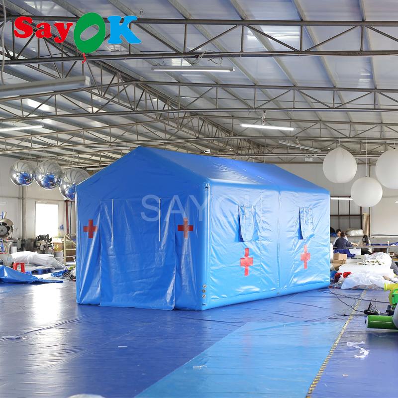 Customized Airtight Inflatable Emergency Tent Inflatable Medical Tent For First Aid Patients Treatment