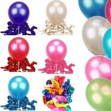 20/50/100 pces 10 polegada 1.5g redondo balão de látex feliz aniversário decoração festa crianças balão de ano novo acessórios de casamento