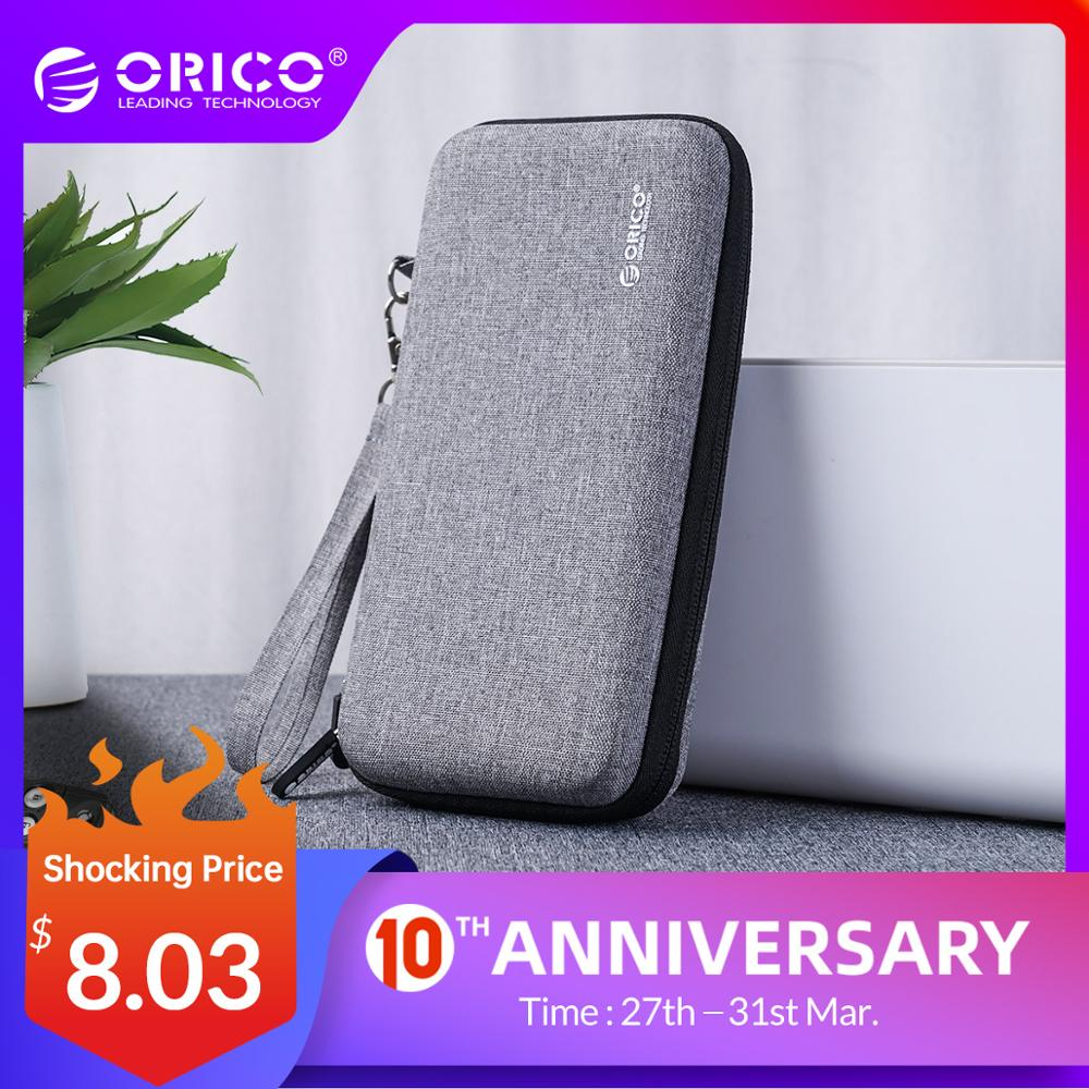 ORICO Hard Case Power Bank Case For 2.5 Inch Hard Drive Disk USB Cable Charger External Storage HDD Case Bag