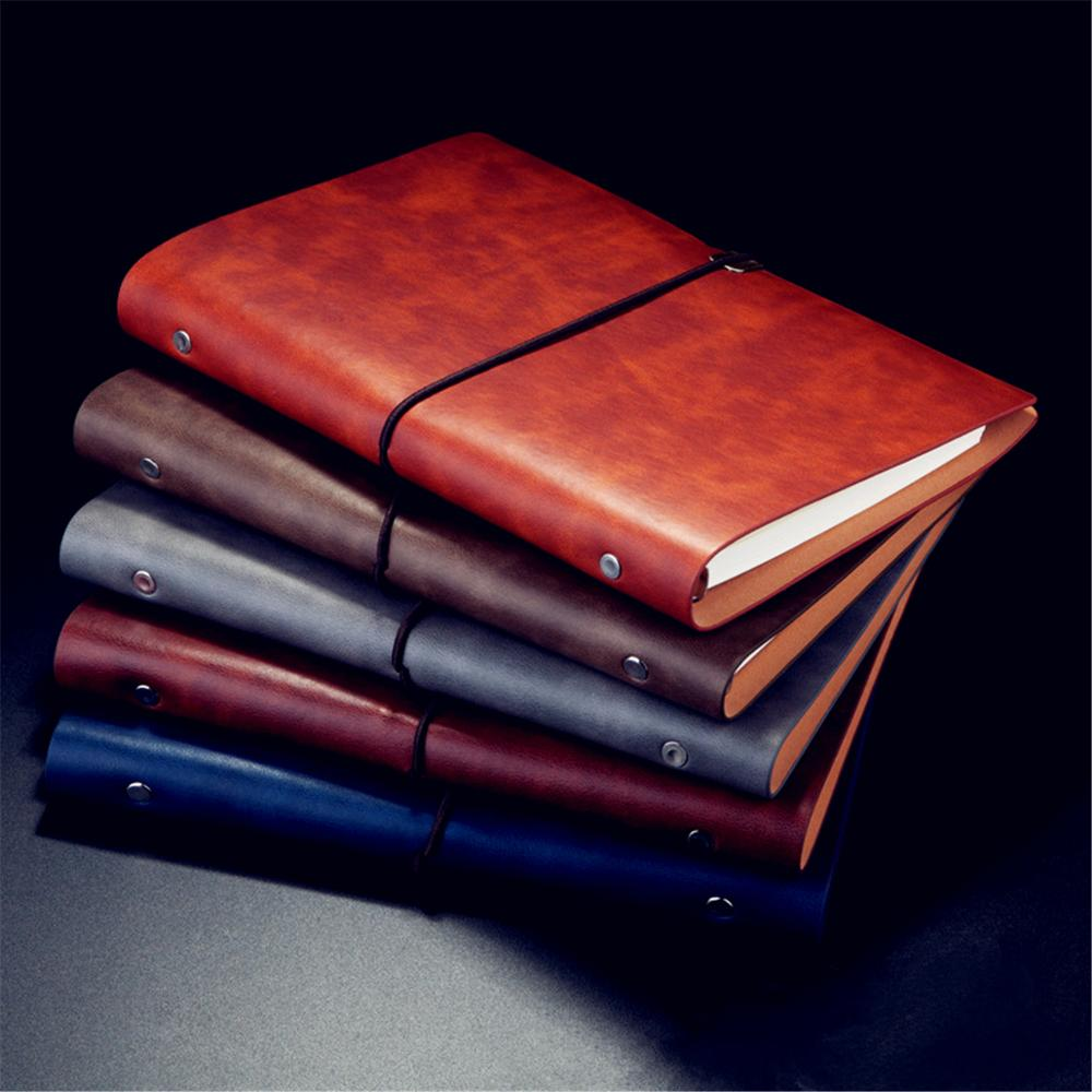 Pu Leather Note Book Cover Spiral Notebook A5 Planner Organizer Notebook Travel Journal Diary 6 Ring Binder Stationery M17F
