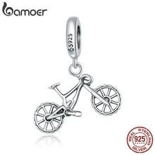 Bamoer – Bracelet en argent Sterling 925 authentique pour femmes, perles éblouissantes de vélo de montagne, fabrication de bijoux à faire soi-même, BSC384