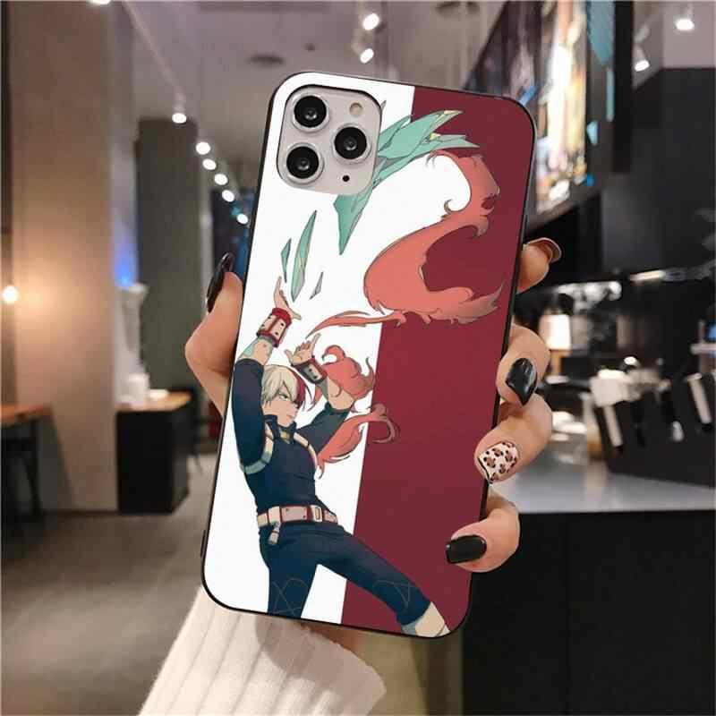 Todoroki Shouto Mijn Hero Academy Geschilderd Telefoon Case Voor Iphone 12 Pro Max 11 Pro Xs Max 8 7 6 6S Plus X 5S Se 2020 Xr Case