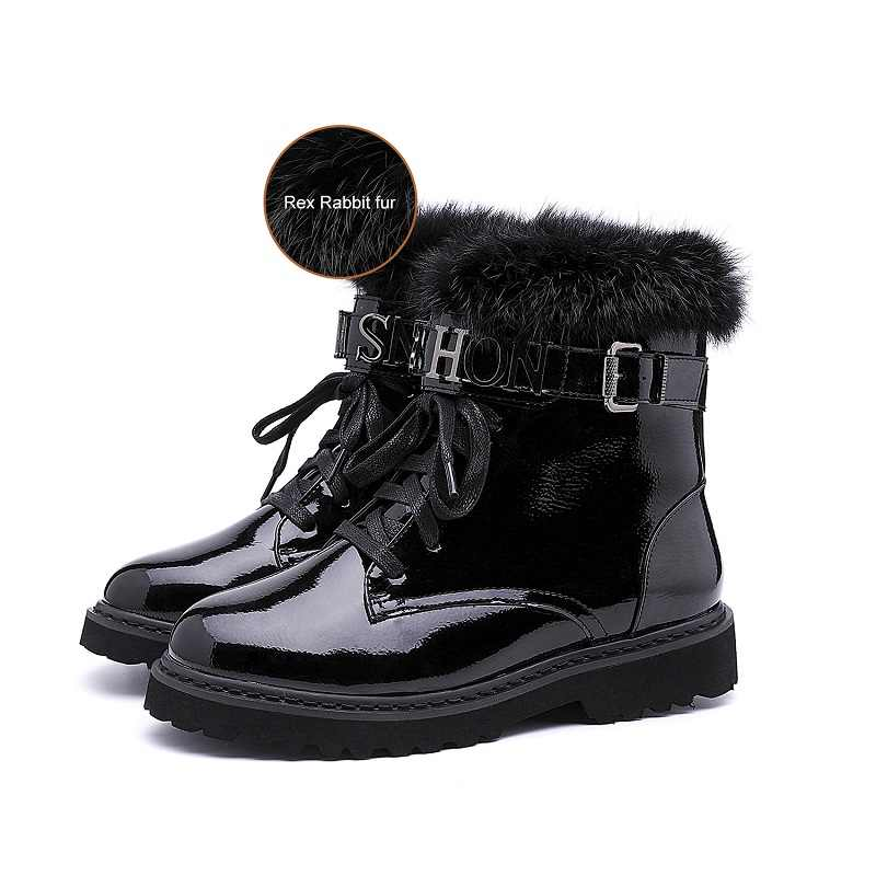 JCHQD True ผมคุณภาพสูงผู้หญิง Lace Up Martin รองเท้าผู้หญิงข้อเท้ารองเท้าบูทฤดูหนาวรองเท้าผู้หญิงยุโรปขนาด