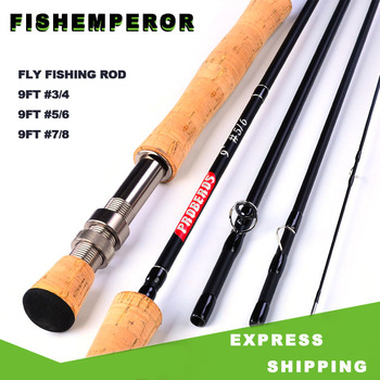цена на Ultra Light Portable 9ft Japan Toray Vara de pesca fibra de Carbono Fiber Fly Fishing Rod 2.7M 4 Sections Hard Fishing Pole Rod