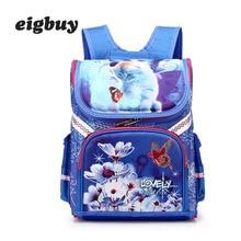 Orthopedic School Bag Girls Backpacks For School Cartoon Cat Knapsack Kids Satchel Children School Bags Mochila Escolar