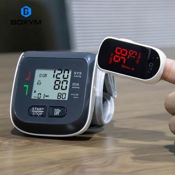 BOXYM Digital Finger Pulse Oximeter blood oxygen Heart Rate Monitor & Wrist Blood Pressure Monitor Sphygmomanometer 1