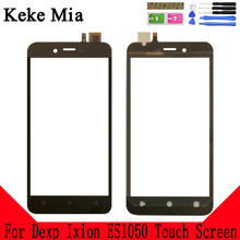 Keke Mia 5.0 Mobile Touch Screen For Dexp Ixion ES1050 Digitizer Panle Lens Glass Black Color With Tape