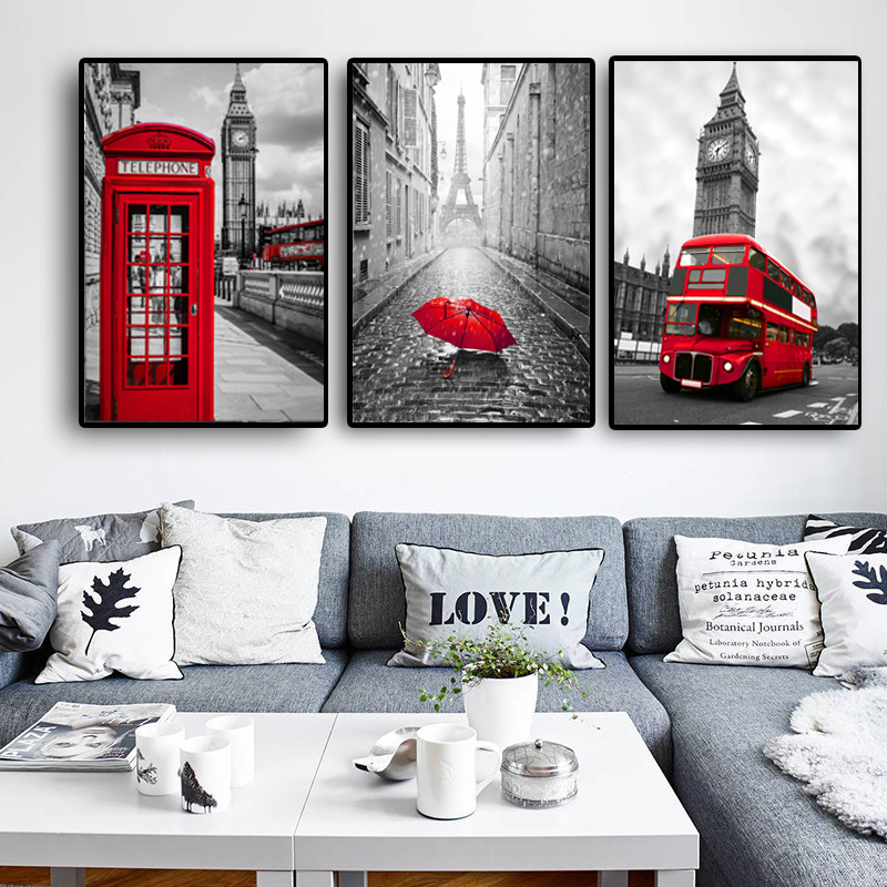 Poster Nordic Posters And Prints Paintings For Living Room Wall Art Decorative Pictures Canvas Print City London Paris Landscape