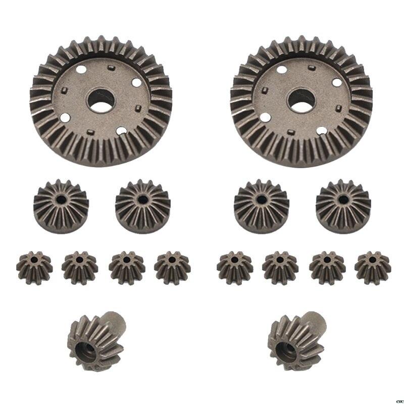 Engranaje de Metal mejorado 30T 24T 12T engranaje motriz diferencial 0011/0012/0013/0014 para Wltoys 12428 12429 RC repuestos de coche