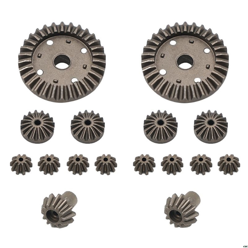 Upgrade <font><b>Metal</b></font> Gear 30T 24T 12T Differential Driving Gears 0011/0012/0013/0014 for <font><b>Wltoys</b></font> <font><b>12428</b></font> 12429 RC Car Spare Parts image