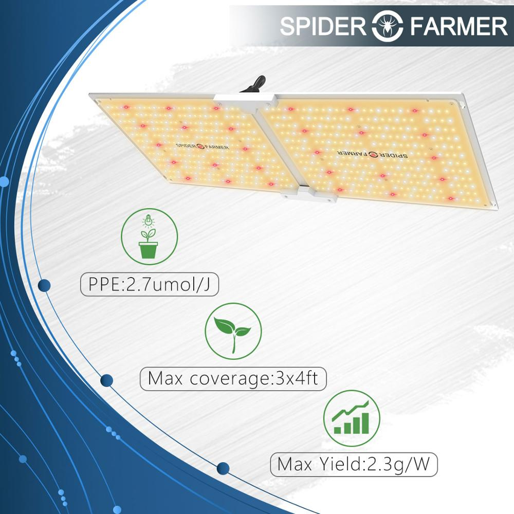 Led Grow Light Quantum Board Spider Farmer 2000W Indoor Panel Lamp For Plants Samsung LM301B DIY (Meanwell Driver) Full Spectrum