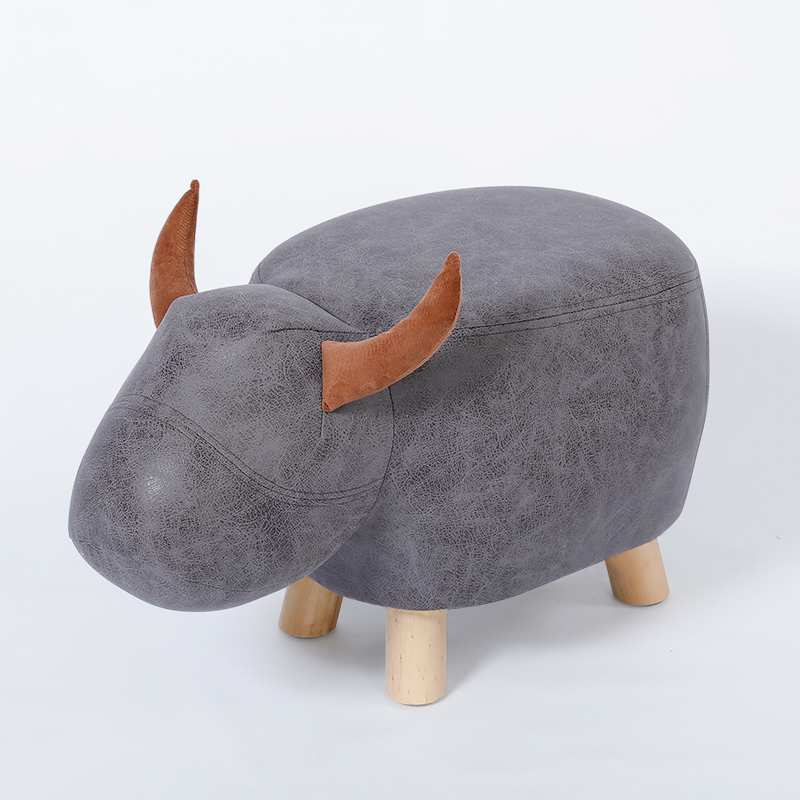 Fashion Creative Calf Children Animal Shoes Bench Bench Home Footstool Stool Small Wooden Stool Solid Wood Sofa Stool