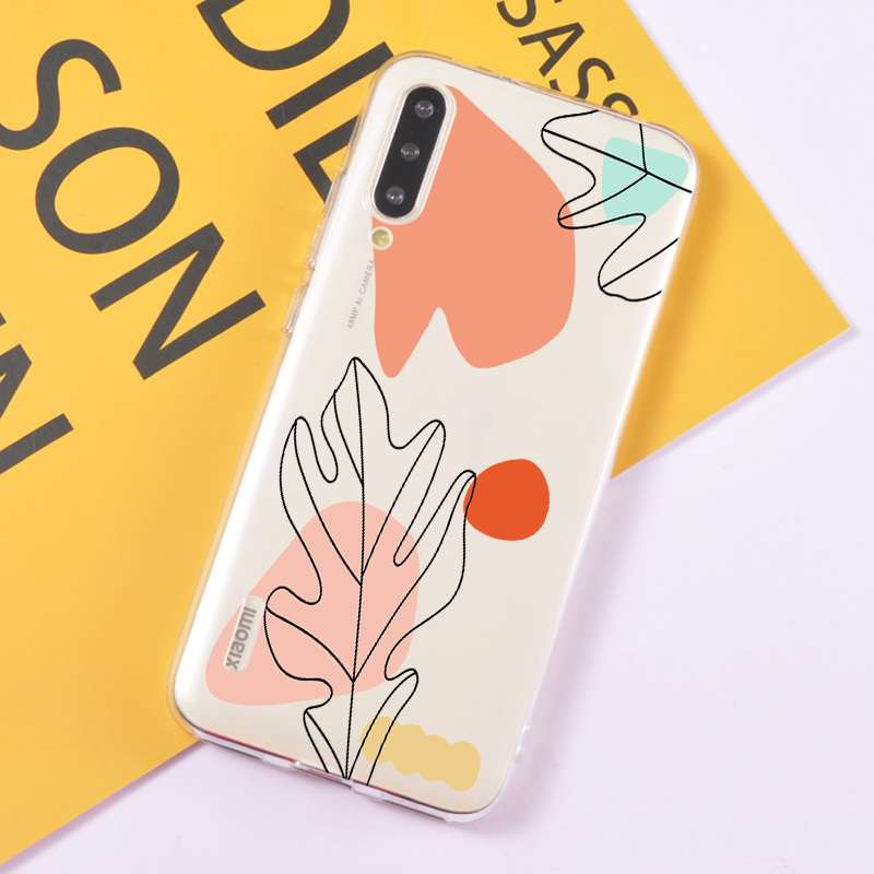 Abstract Art Painting Phone Cases For Redmi Note 8 Pro K20 Clear Silicone Cover Back Case For Xiaomi Mi 10 Pro 9T 9S Note 7