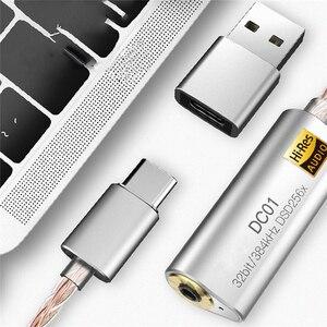Image 4 - Przenośny wzmacniacz słuchawkowy Adapter do iBasso DC01 DC02 USB DAC dla android pc tabletki 2.5mm 3.5mm HiFi zatrudnia typ adaptera C