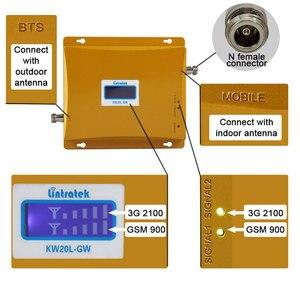 Image 3 - を lintratek 3 グラム wcdma 2100 mhz gsm 900 1800mhz のデュアルバンド増幅器携帯電話の信号ブースター gsm 信号リピータ 3 グラム 4 グラムアンテナ + ケーブル