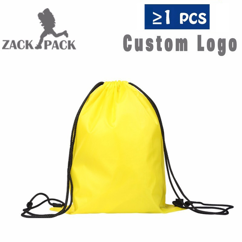 5pcs Drawstring Bag New Custom Printing Logo Storage Bag Draw String Pull Rope Male Female Students Backpack