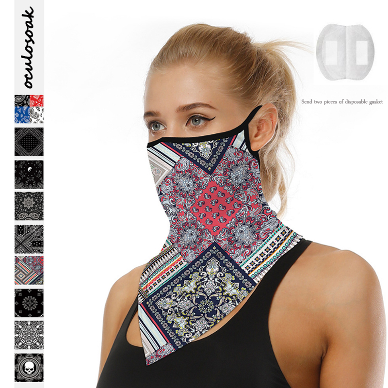 Totem Digital Printing Explosive Triangle Scarf Multifunctional Outdoor Riding Breathable Sunscreen Scarf