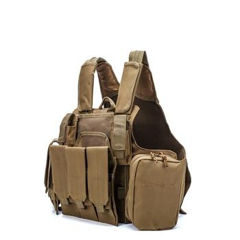Airsoft Military  CIRAS Tactical Vest Molle Combat Assault Armor Plate Carrier Tactical Vest Kryptek Black Outdoor Hunting Vest 2
