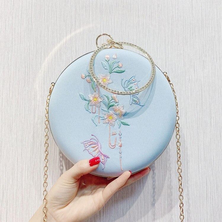 Сумка-мессенджер с вышивкой Cheongsam, китайская ручная сумка с вышивкой, новинка, ручная сумка, вечерние сумки - Цвет: 12