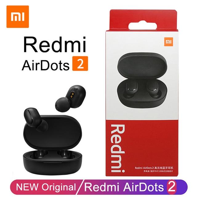 Xiaomi Redmi Airdots 2 TWS Wireless Earphones Bluetooth Headphones Headset With Mic Original Redmi Airdots 2 Wireless Headphones 1
