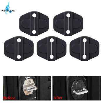 Car Interior Door Lock Protection Cover For Jeep Wrangler JL 2018 2019 Auto Door Lock Decoration Protect Cover Styling Black image