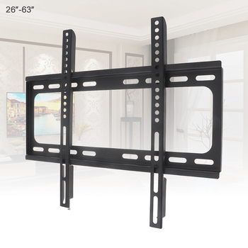 Universal 45KG Fixed--type TV Wall Mount Bracket Flat Panel TV Frame with Level for 26 - 63 Inch LCD LED Monitor Flat Panel image