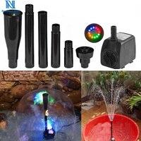 NuoNuoWell Mushroom/Blossom Fountain Nozzle 15W EU US Adaptor Submersible Pump Pond Aquarium Landscaping