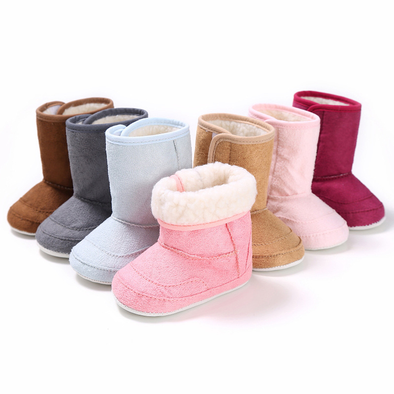 Kids Woolen Yam Knit Fur Baby Girl Shoes Baby Newborn Infant Shoes Toddler Snow Boots Buty Dziewczynka