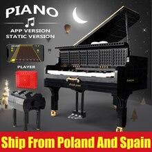 XQ juguetes MOC APP Grand piano con Motor Keizer Modelo Educación bloques de construcción ladrillos Compatible 16561 juguetes chico regalos de cumpleaños
