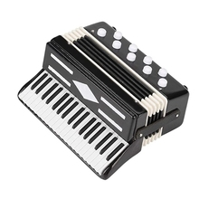 Super sell-Miniature Accordion Mini Musical Instrument Accordion Exquisite Musical Instruments Holiday Decoration Music Gifts