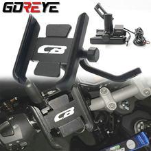Motocicleta Mobile Phone Holder Para CB400 CB500X CB650F cb600 CB750 CB1000 CB1100 Estande Rotativo