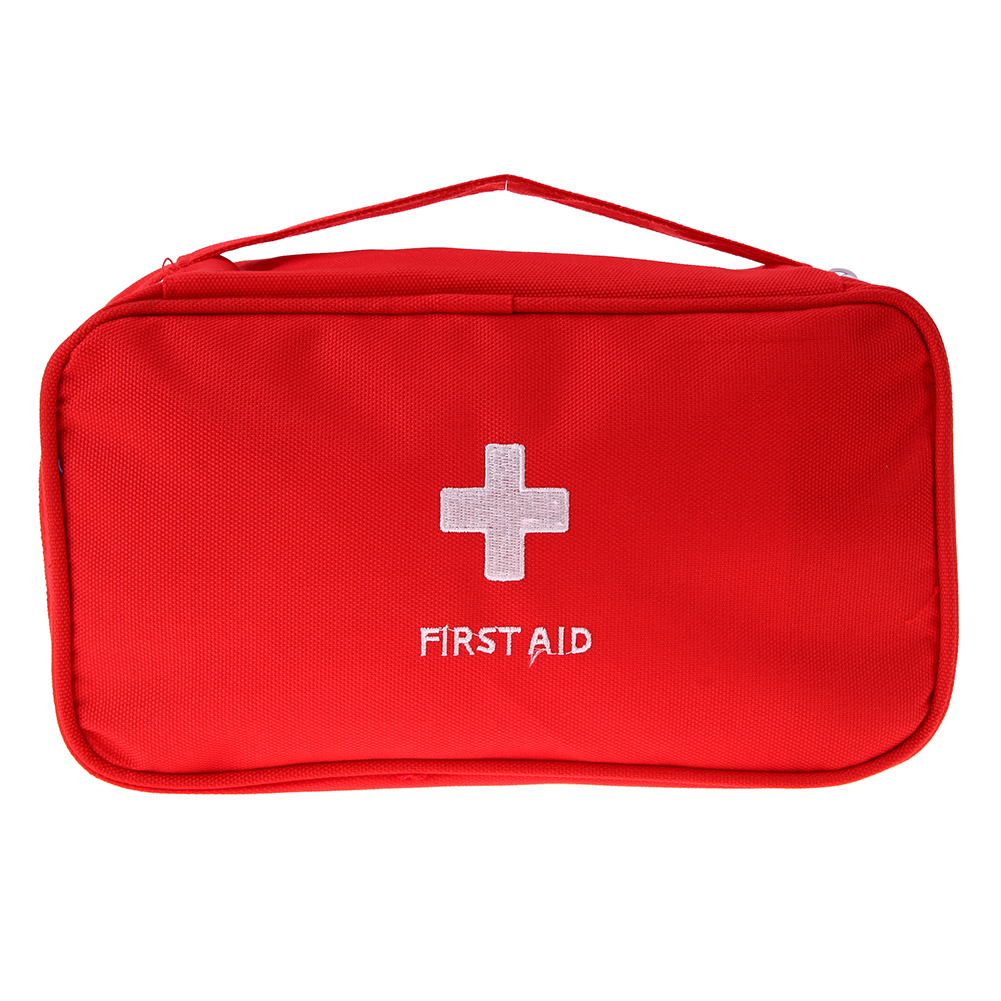 Travel Portable First Aid Emergency Medical Large Survival Bag Wrap(Red) Emergency Kit Bags Small Medicine Divider Organizer