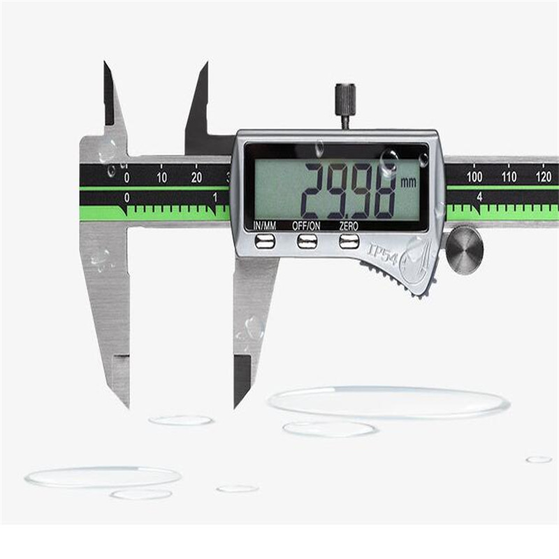 Waterproof Stainless Steel Digital Calipers 150 Mm / 200 Mm / 300 Mm Digital Vernier Calipers