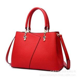 Женская деловая сумка-тоут из спилка, Большая вместительная сумка на плечо