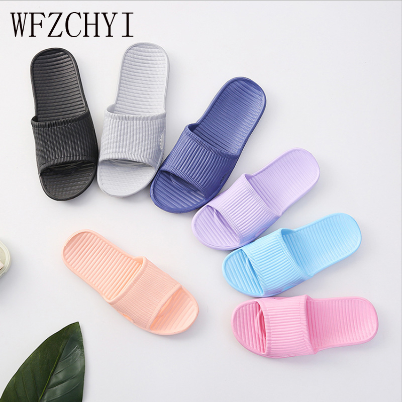 Home Slippers Lovers New Indoor Slippers For Unisex In Bathroom Sandals Indoor Non-slip Home Light EVA Bathroom Shower Shoes
