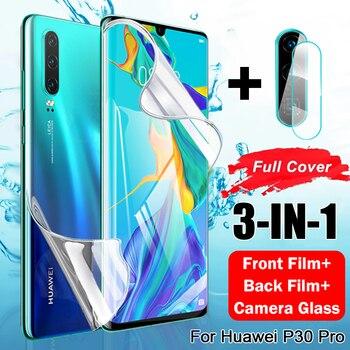 Защита экрана для защитная пленка для экрана Huawei P30 Lite P40 Pro Гидрогелевая пленка для Huawei хуавей Mate 20 Lite Honor хонор 10 лайт 20 Pro P Samrt 2019 камера Защита камеры стакан защитное стекло телефон