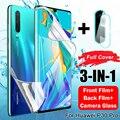Защита экрана для защитная пленка для экрана Huawei P30 Lite P40 Pro Гидрогелевая пленка для Huawei хуавей Mate 20 Lite Honor хонор 10 лайт 20 Pro P Samrt 2019 камера Защит...