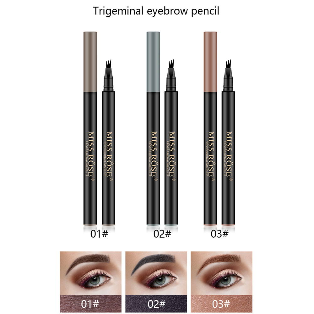 Quick drying Matte Beauty Eyebrow Pencil Three dimensional Waterproof Durable Non marking Professional Dyeing Eyebrow Cream in Eyebrow Enhancers from Beauty Health