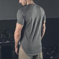 Muscleguys-Camiseta de gimnasio para hombre, Camiseta de algodón para entrenamiento de Fitness, Camiseta ajustada de culturismo, ropa deportiva informal de verano