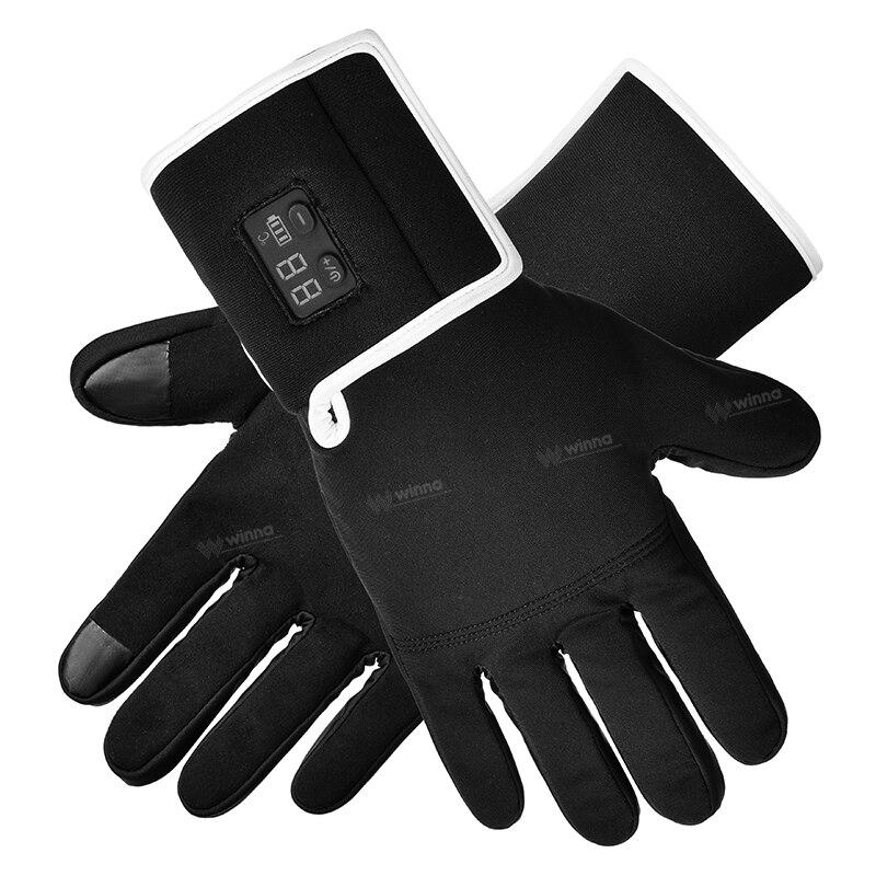Спаситель S 15 Электрический тепло кожаные перчатки, открытый лыжный спорт литиевая батарея САМОНАГРЕВАЮЩАЯСЯ, Smart touch перчатки с подогревом - 6