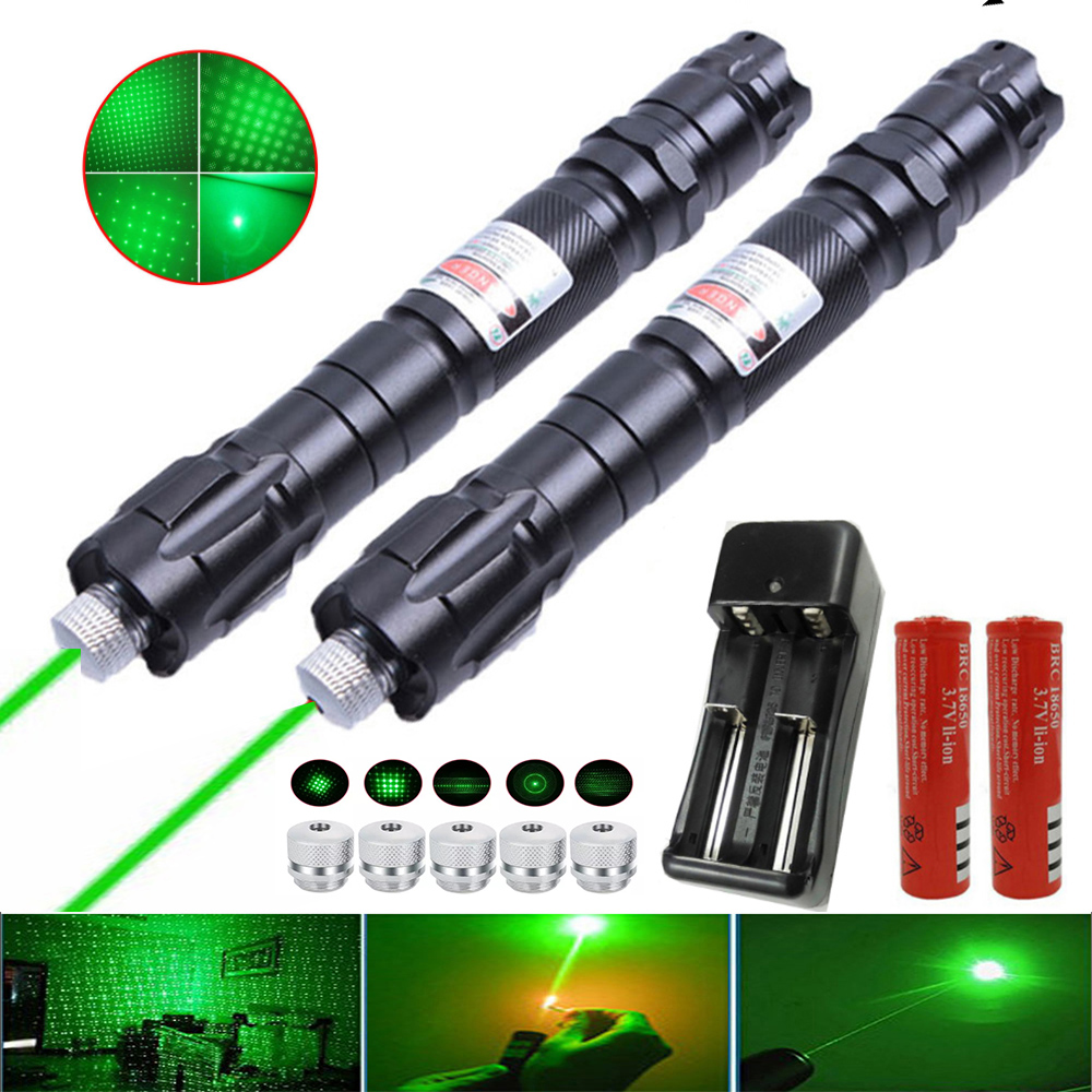 Powerful green laser sight 009 laser pointer 5 milliwatts 10000M ultra-long radiation burning laser +18650 battery combination
