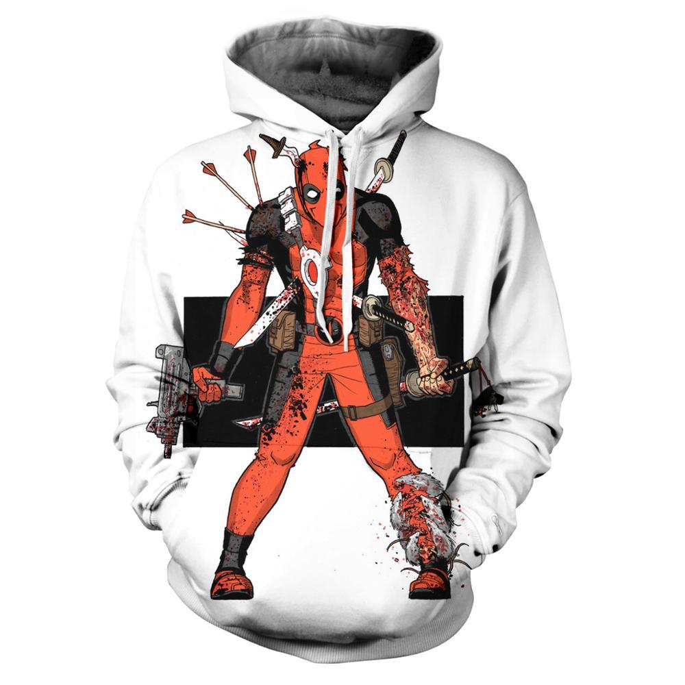 2020 Men s Sweatshirt Deadpool Fun Hooded Hoodie Hip Hop Street Wear Men s Hoodie Harajuku