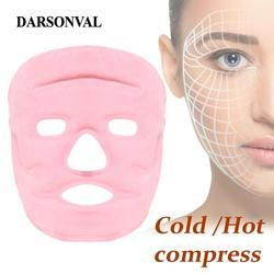 Darsonval tormalina máscara facial ímã gel máscaras rosto emagrecimento remover bolsa de olho calma pele facial quente frio therepy máscara de cuidados faciais