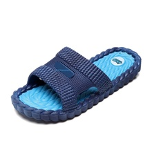 Bathroom Bathing Non-slip Male Lady Room Inside And Outside Thick Bottom Home Slippers Couple Cool Slippers Pvc One Word Drag 2019 new trend embroidery word drag men outside wearing damp slippers anti slip wear thick bottom home bathroom slippers