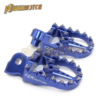 Clavijas de pie para Motocross de aleación de aluminio, clavijas de Pedal de motocicleta para Yama Yz 125 250 Yz125 Yz85 Yz450f Wr450f Wr250f 99-17 Dirt Bike