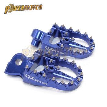 De aleación de aluminio de Motocross pie clavijas de clavijas Pedal de Moto para Yama Yz 125 250 Yz125 Yz85 Yz450f Wr450f Wr250f 99-17 de la bici de la suciedad