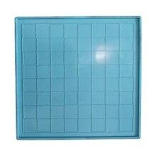 Cristal resina epóxi molde placa de xadrez fundição molde de silicone diy artesanato fazendo r3mc