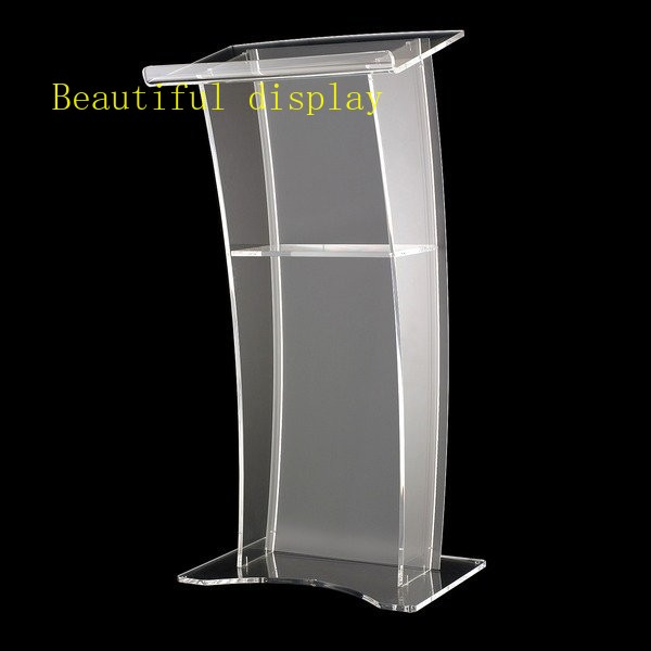 Free Shipping Modern Acrylic Podium, High Quality Acrylic Pulpit, Pulpit Clear Night Bar Table Logo Customize