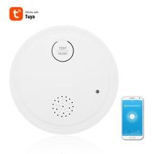 Интеллектуальный Wi-Fi стробоскоп детектор дыма беспроводной датчик пожарной сигнализации 433 МГц Работа приложение Tuya управление домашней дымовой сигнализации устройство